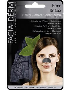 FACIALDERM BLACK NOSE STRIPS DETOX 5u  (15) SEN