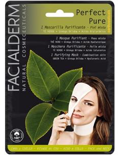 FACIALDERM TIS.MASK F&N PER.PURE GREEN TEA (15)SEN