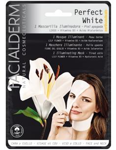 FACIALDERM TIS.MASK F&N PERFECT WHITE LILY (15)SEN