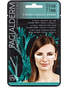 FACIALDERM EYE PADS STOP TIME COLLAGEN 6u (24)SEN