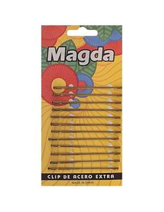 CLIP MAGDA BRONZE RECTE+BOL 6,5cm 12u 1107 (24) FA