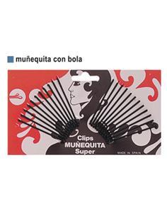 CLIP MUÑEQUITA REC.BOLA (YO-YO) NEGRE 5cm 24u(30)