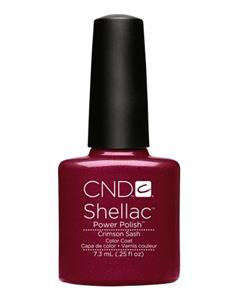 SHELLAC CRIMSON SASH (GRANAT) 7,3ml ***  CND